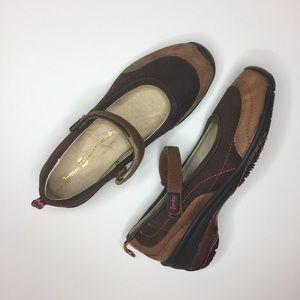 Jambu brown Mary Jane shoe comfort  Leather 8